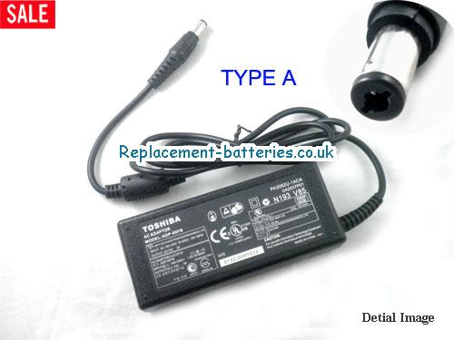 Genuine TOSHIBA Satellite Pro 460CDT Laptop AC Adapter 15V 3A 45W