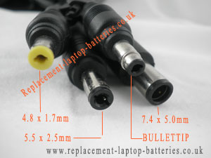 Detail of HP / Compaq AC adapter tips